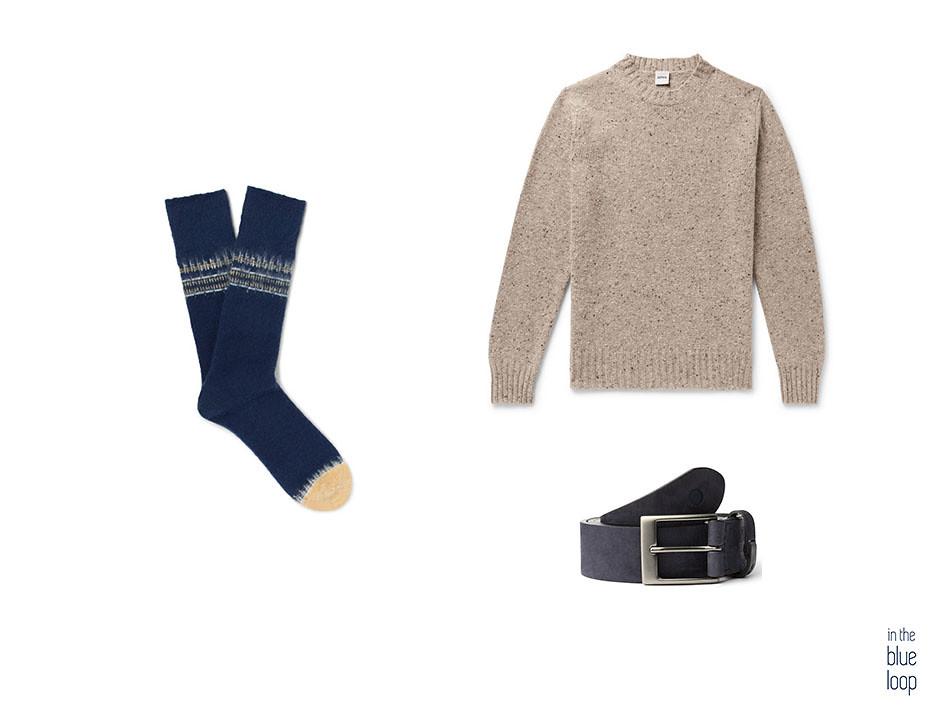 Jersey masculino con calcetines y cinturón azul Igara de blue hole