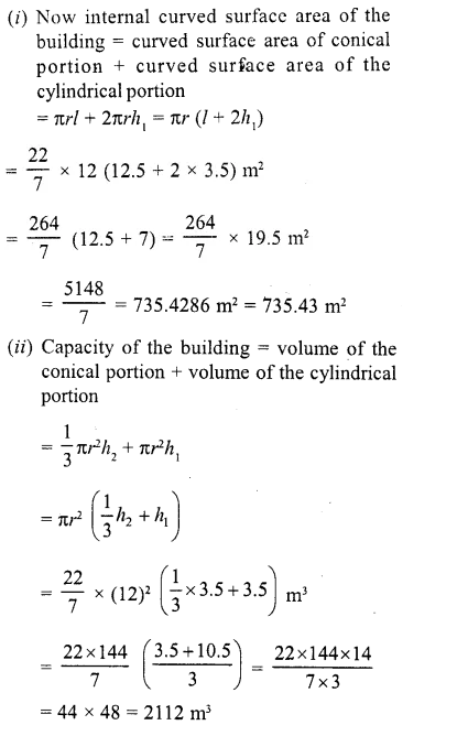 RD Sharma Class 10 Solutions Chapter 14 Surface Areas and Volumes  RV 52a