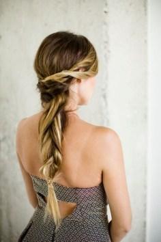 Wedding Hairstyles : Long braid Bridesmaid Hairstyle