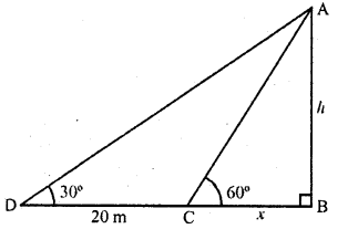 RD Sharma Class 10 Solutions Chapter 12 Heights and Distances Ex 12.1 - 27