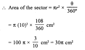 RD Sharma Class 10 Solutions Chapter 13 Areas Related to Circles VSAQS - 7