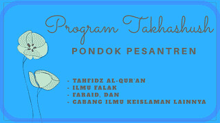 program-takhashush-pondok-pesantren