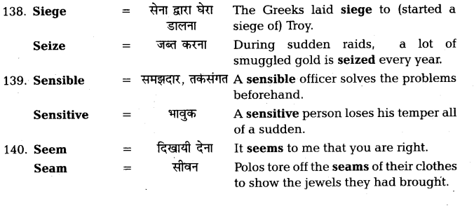 UP Board Solutions for Class 11 English Vocabulary Chapter 7 Homophones 34