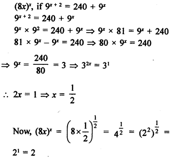 RD Sharma Class 9 Solutions Chapter 2 Exponents of Real Numbers Ex 2.2 - 11a