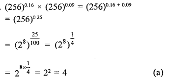 RD Sharma Class 9 Solutions Chapter 2 Exponents of Real Numbers MCQS - 22