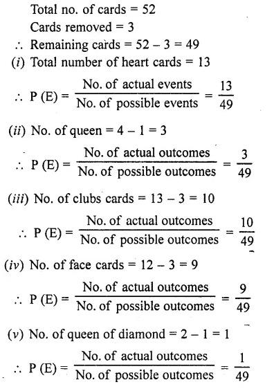 RD Sharma Maths Book For Class 10 Solution Chapter 13 Probability