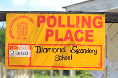 Diamond Secondary School (Polling Place) in Region 4, East Bank Demerara.
