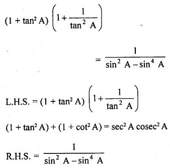 RD Sharma Class 10 Solutions Chapter 11 Trigonometric Identities Ex 11.1 - 53a