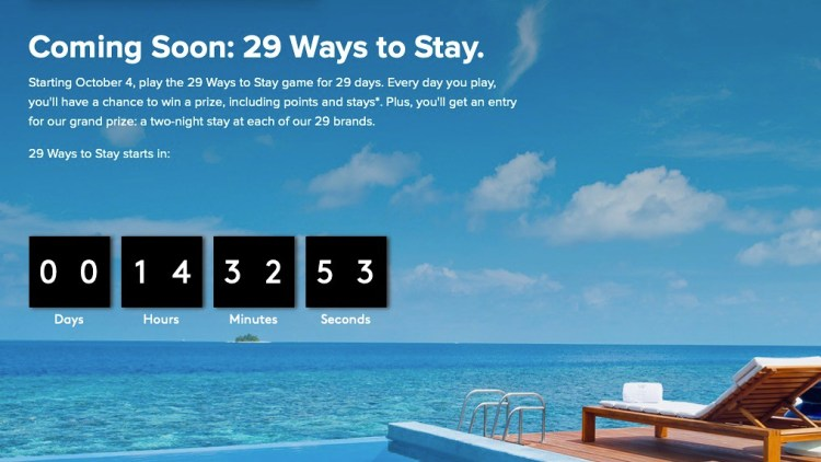 Marriott's 29 Ways To Stay Giveaway