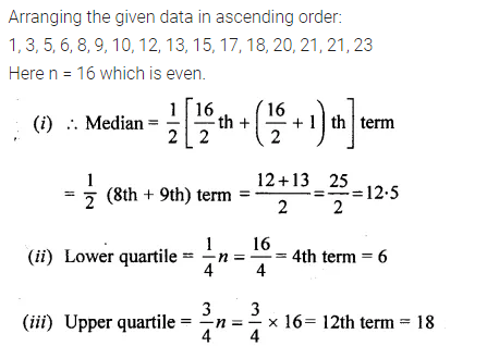 ML Aggarwal Class 10 Solutions for ICSE Maths Chapter 23 Measures of Central Tendency Chapter Test 17