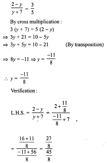 RD Sharma Class 8 Solutions Chapter 9 Linear Equations in One Variable Ex 9.3 - 2a