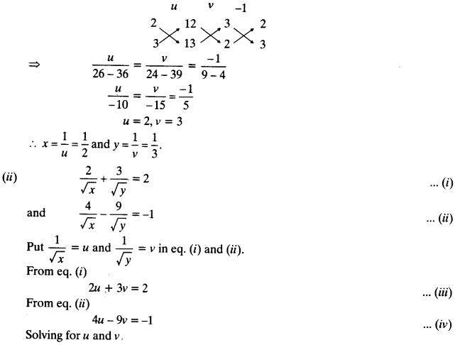 NCERT Solutions for Class 10 Maths Chapter 3 Pair of Linear Equations in Two Variables 72