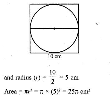 RD Sharma Class 10 Solutions Chapter 13 Areas Related to Circles MCQS -24
