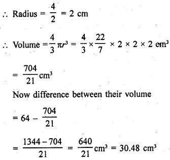 RD Sharma Class 9 Solutions Chapter 21 Surface Areas and Volume of a Sphere Ex 21.2 21