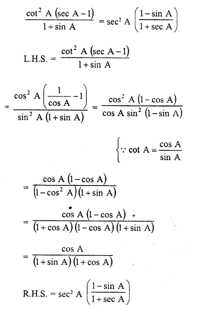 RD Sharma Class 10 Solutions Pdf Free Download Chapter 6 Trigonometric Identities