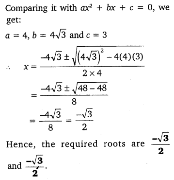NCERT Solutions for Class 10 Maths Chapter 4 Quadratic Equations 18