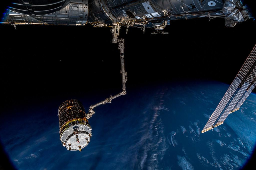Releasing JAXA's HTV7 cargo vehicle from the ISS