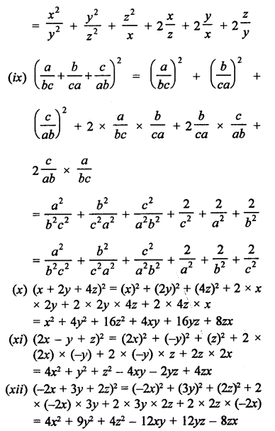 RD Sharma Solutions Class 9 Chapter 4 Algebraic Identities