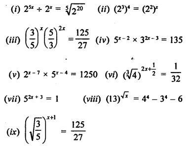 Class 9 Maths Chapter 2 Exponents of Real Numbers RD Sharma Solutions
