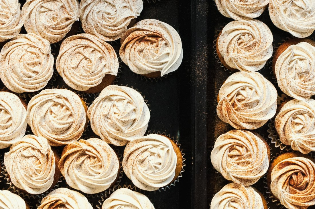 pumpkin cupcakes with brown butter SMBC