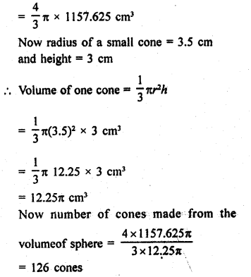 RD Sharma Class 9 Solutions Chapter 21 Surface Areas and Volume of a Sphere Ex 21.2 18a