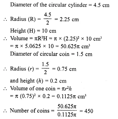 RD Sharma Class 10 Solutions Chapter 14 Surface Areas and Volumes  RV 38