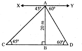 RD Sharma Class 10 Solutions Chapter 12 Heights and Distances Ex 12.1 - 42