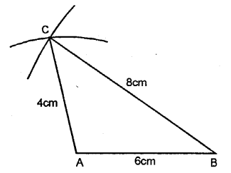 Selina Concise Mathematics Class 6 ICSE Solutions - Triangles (Including Types, Properties and Constructions) -b1