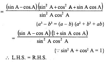 RD Sharma Class 10 Solutions Chapter 11 Trigonometric Identities Ex 11.1 - 69a