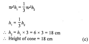 RD Sharma Class 10 Solutions Chapter 14 Surface Areas and Volumes MCQS 42