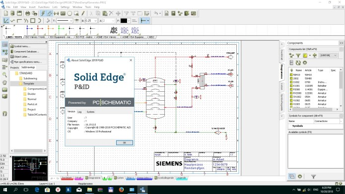 Working with Siemens Solid Edge Modular Plant Design 2019 full license