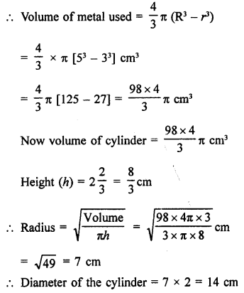 RD Sharma Class 9 Solutions Chapter 21 Surface Areas and Volume of a Sphere Ex 21.2 15