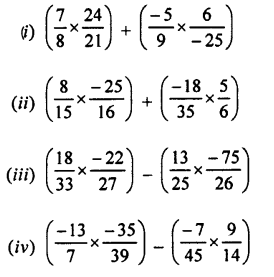 Selina ICSE Class 7 Maths Solutions - Rational Numbers-e8