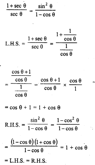 RD Sharma Class 10 Solutions Chapter 11 Trigonometric Identities Ex 11.1 - 29a