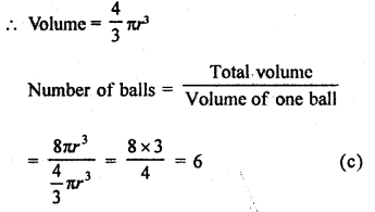 RD Sharma Class 9 Solutions Chapter 21 Surface Areas and Volume of a Sphere MCQS 6