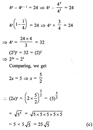 RD Sharma Class 9 Solutions Chapter 2 Exponents of Real Numbers MCQS - 28a