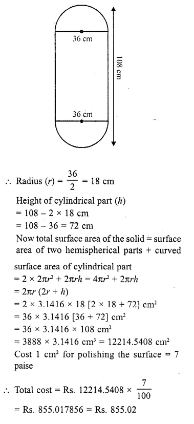 RD Sharma Class 10 Solutions Chapter 14 Surface Areas and Volumes  RV 31