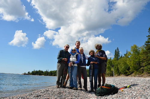 Lake Superior Park -All of us at the end of the Orphan Lake trail