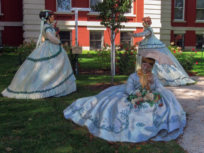 Figurines on the lawn