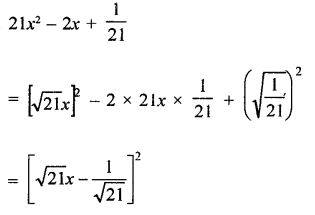 RD Sharma Class 9 Solution Chapter 5 Factorisation of Algebraic Expressions