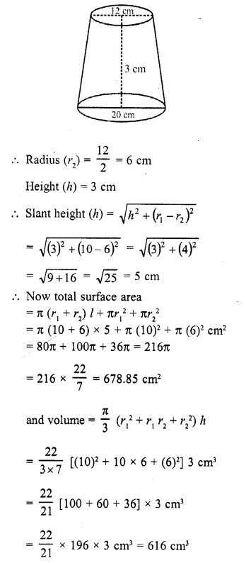 RD Sharma Class 10 Solutions Chapter 14 Surface Areas and Volumes Ex 14.3 2