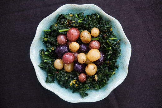 black kale with potatoes