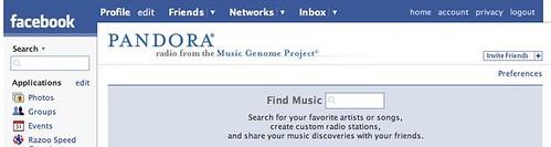 Pandora's Facebook App