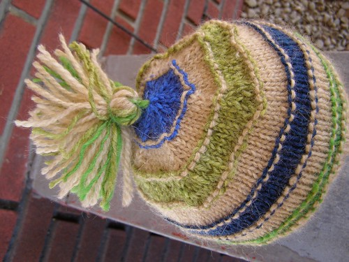 scrap-happy mountain mohair hat - top