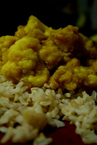 Red Lentil-Cauliflower Curry