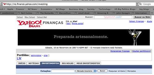 yahoo finance..brasil