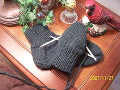 First pair of knitted socks...