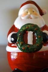Santa with Wreath