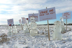 snowmen at Denver International