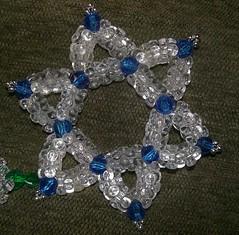 Handmade star of david ornament